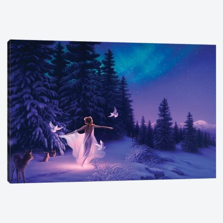 Welcoming The Dawn Canvas Print #KRE124} by Kirk Reinert Canvas Wall Art