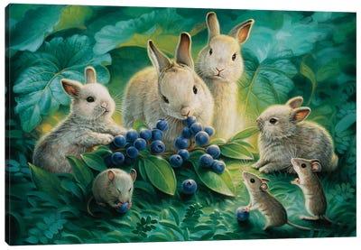 Blueberry Lunch Canvas Art Print