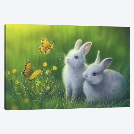 Buttercups Canvas Print #KRE15} by Kirk Reinert Canvas Print
