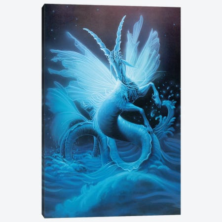 Capricorn, Sketch Canvas Print #KRE19} by Kirk Reinert Canvas Art