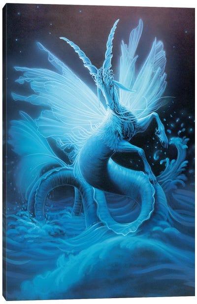 Capricorn, Sketch Canvas Art Print