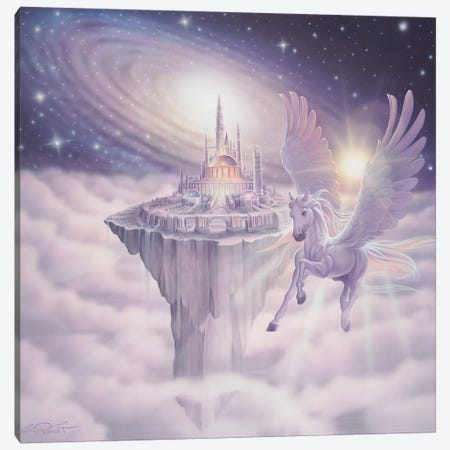 Castle In The Sky Canvas Print #KRE20} by Kirk Reinert Art Print