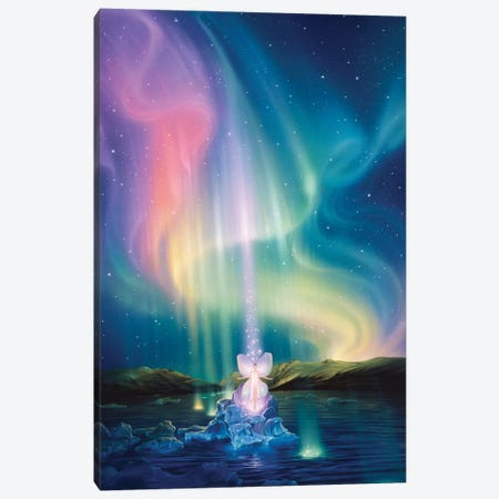 Crystal Beams 3-Piece Canvas #KRE27} by Kirk Reinert Canvas Wall Art