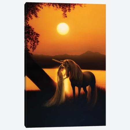 Enchanted Evening I Canvas Print #KRE33} by Kirk Reinert Canvas Artwork