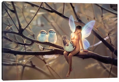 Feathered Friends, Day Canvas Art Print