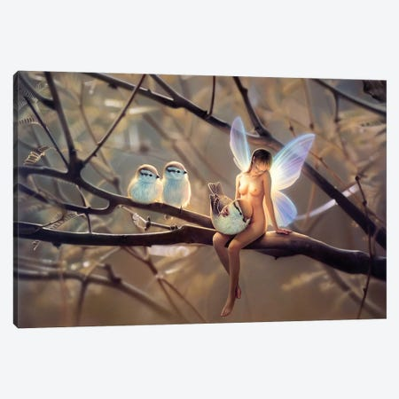 Feathered Friends, Day 3-Piece Canvas #KRE40} by Kirk Reinert Canvas Print