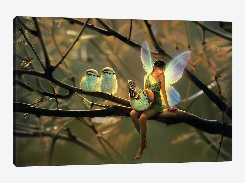 Feathered Friends, Night by Kirk Reinert 1-piece Canvas Art Print