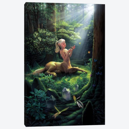 Forest Princess 3-Piece Canvas #KRE44} by Kirk Reinert Canvas Wall Art