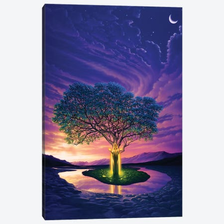 Gaia, Earth's Angel Canvas Print #KRE46} by Kirk Reinert Canvas Artwork