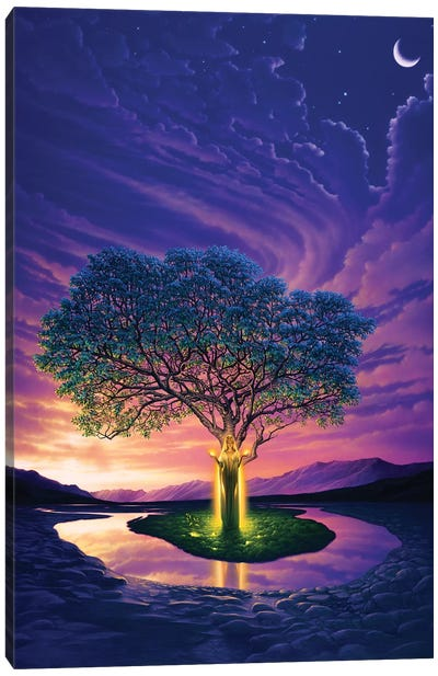 Gaia, Earth's Angel Canvas Art Print