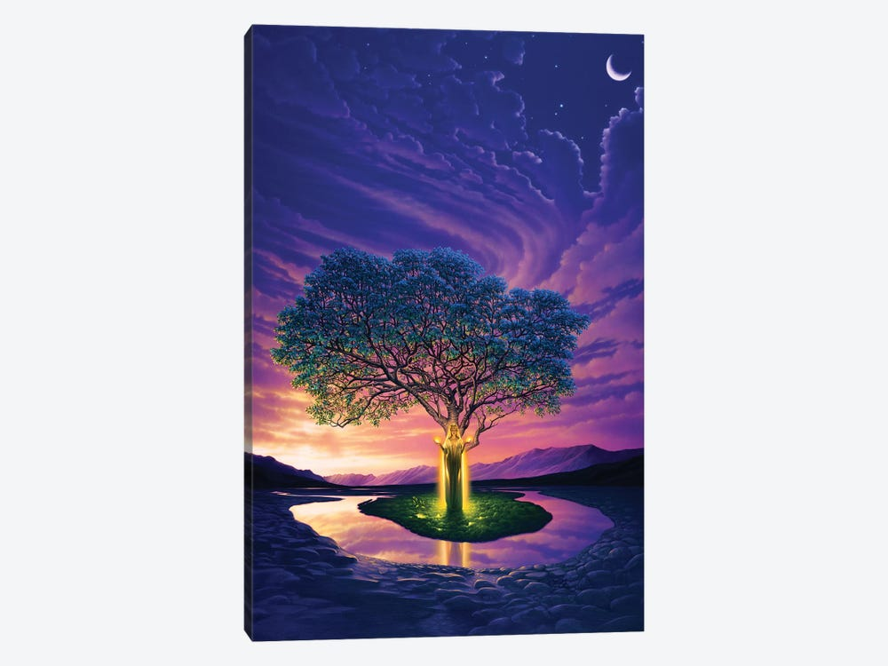 Gaia, Earth's Angel by Kirk Reinert 1-piece Canvas Wall Art