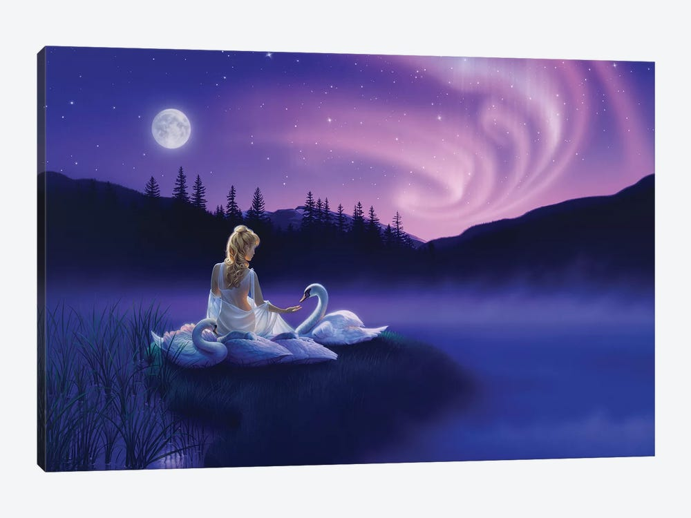 Gift Of The Swan by Kirk Reinert 1-piece Canvas Art