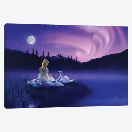 Gift Of The Swan Canvas Print #KRE51} by Kirk Reinert Canvas Wall Art