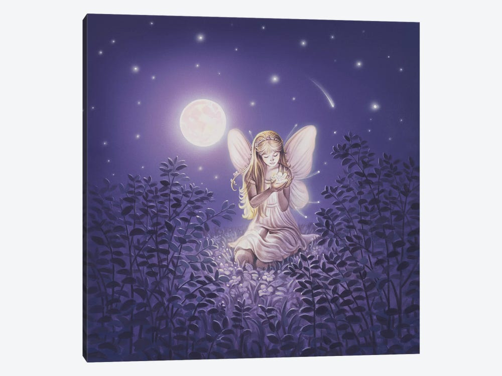 Girl With Night Flower 1-piece Art Print