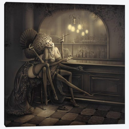 Ida The Spider Canvas Print #KRE57} by Kirk Reinert Art Print