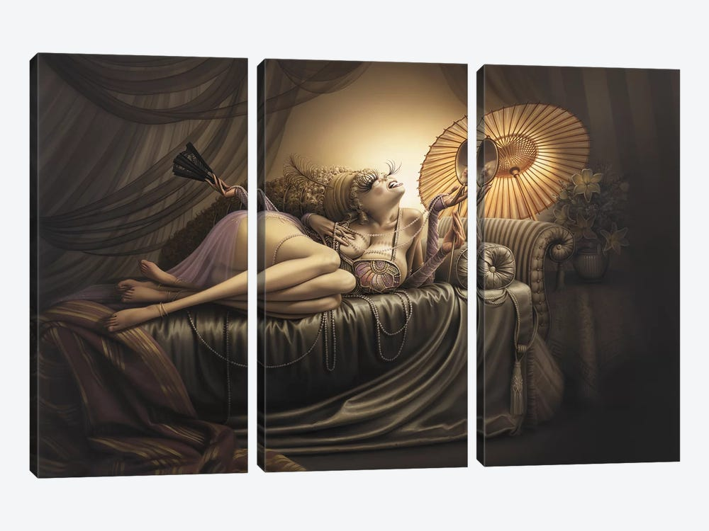 Ida, Slave To Love by Kirk Reinert 3-piece Canvas Print