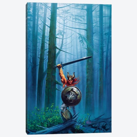 King Of The Woods Canvas Print #KRE62} by Kirk Reinert Art Print