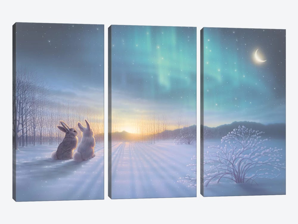 Lovely, Lovely Night 3-piece Canvas Wall Art
