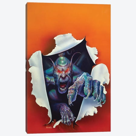 Monster From The Other Side Canvas Print #KRE71} by Kirk Reinert Canvas Wall Art