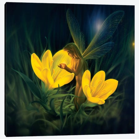 Night Harvest Canvas Print #KRE76} by Kirk Reinert Canvas Print