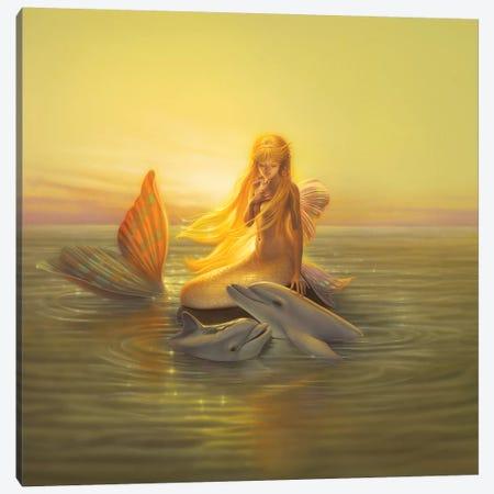One Love Canvas Print #KRE78} by Kirk Reinert Canvas Wall Art