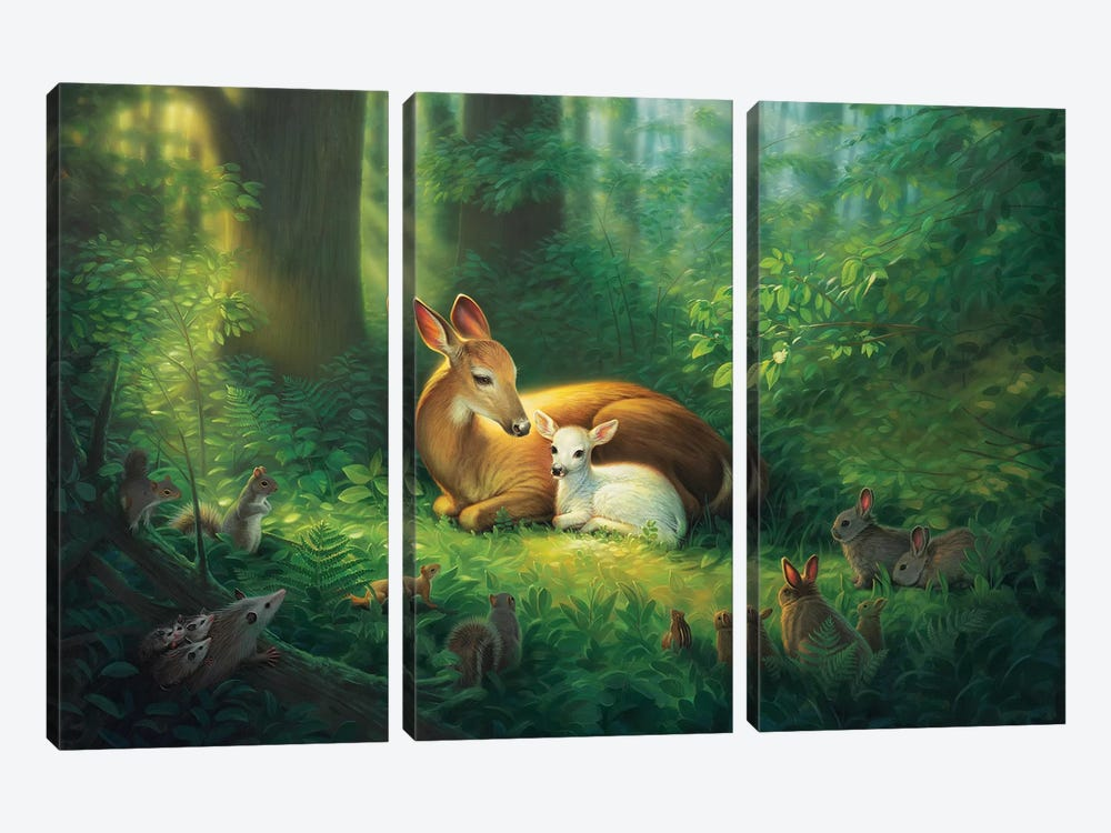 Precious by Kirk Reinert 3-piece Canvas Art