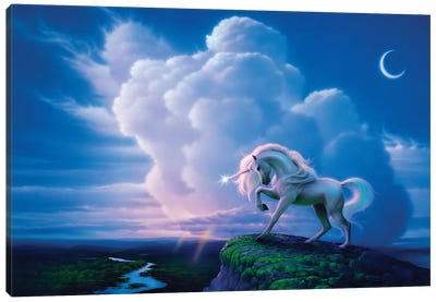 Rainbow Unicorn Canvas Art Print