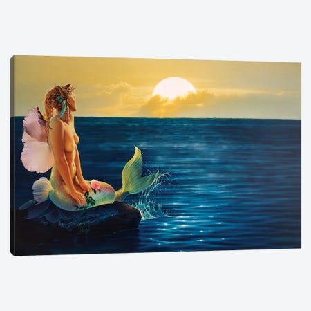 Rising To Greet The Dawn 3-Piece Canvas #KRE89} by Kirk Reinert Canvas Art Print