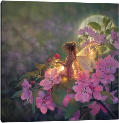 Sakura Moon Canvas Art Print