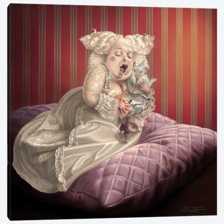 Satin And Chinchilla Canvas Print #KRE91} by Kirk Reinert Canvas Artwork