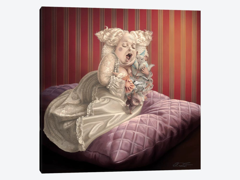 Satin And Chinchilla by Kirk Reinert 1-piece Canvas Wall Art