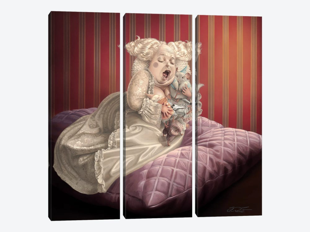 Satin And Chinchilla by Kirk Reinert 3-piece Canvas Wall Art