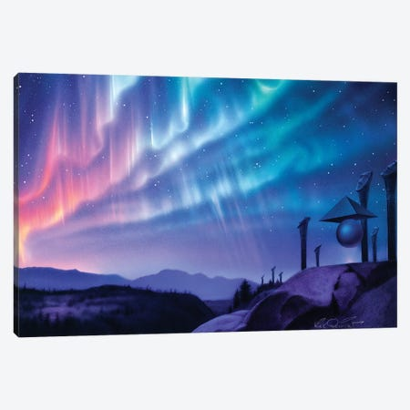 Skywatchers 3-Piece Canvas #KRE98} by Kirk Reinert Canvas Art