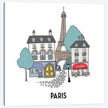 Paris Canvas Print #KRH4} by Kristina Hultkrantz Canvas Art Print