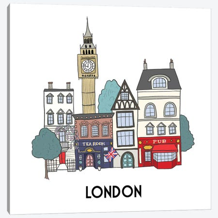 London Canvas Print #KRH5} by Kristina Hultkrantz Canvas Art Print