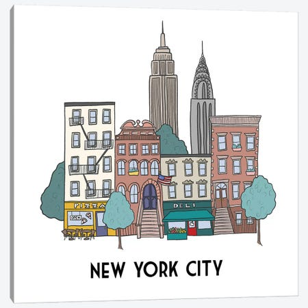 New York Canvas Print #KRH6} by Kristina Hultkrantz Canvas Print