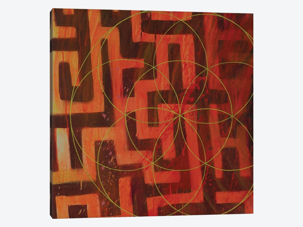Lodestar Labyrinth by Kristin Reed 1-piece Canvas Art Print