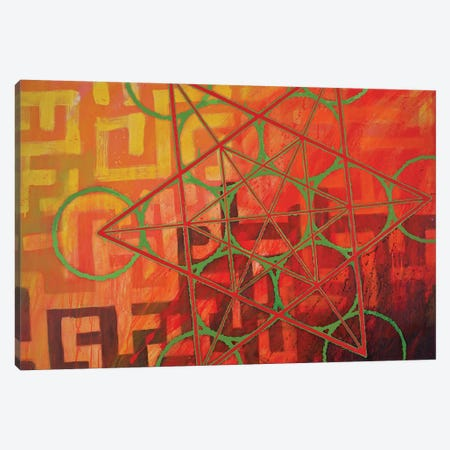 Metatron's Maze Canvas Print #KRI26} by Kristin Reed Canvas Wall Art