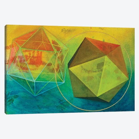 Icosahedron (Water) Canvas Print #KRI35} by Kristin Reed Art Print