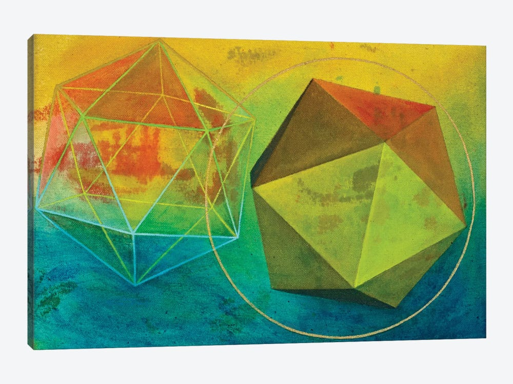 Icosahedron (Water) by Kristin Reed 1-piece Canvas Artwork