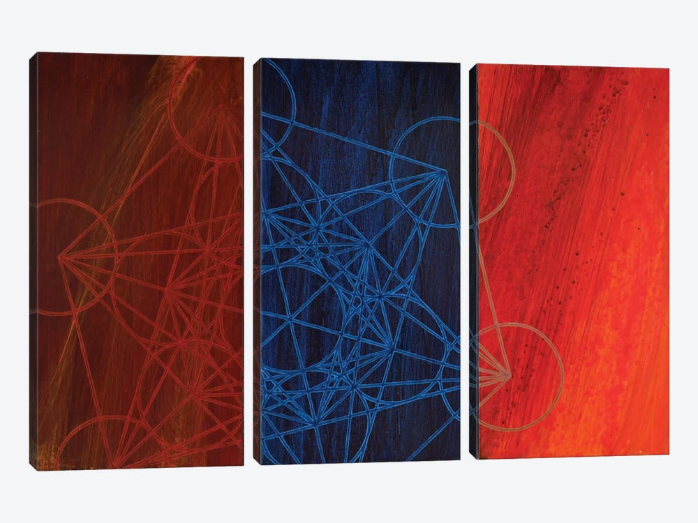 The Emergence Of Metatron by Kristin Reed 3-piece Canvas Art Print