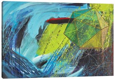 The Perilous Descent Canvas Art Print
