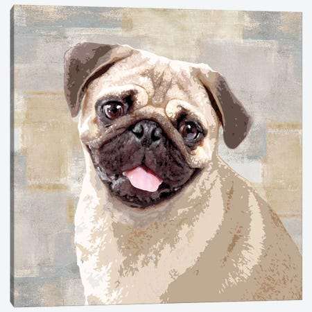 Pug Canvas Print #KRO13} by Keri Rodgers Canvas Artwork