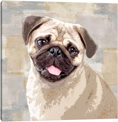 Pug Canvas Art Print