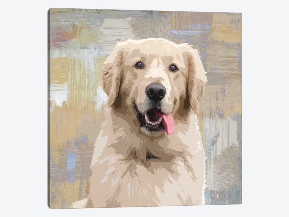 Golden Retriever by Keri Rodgers 1-piece Canvas Artwork