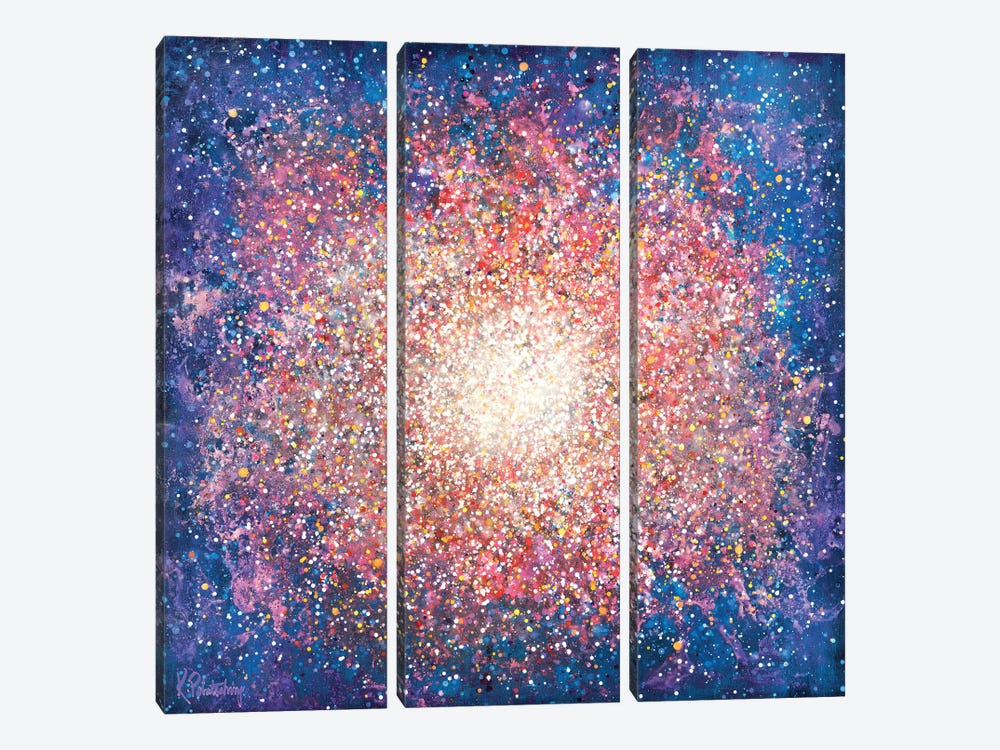 Messier 15 by Kristen Pobatschnig 3-piece Canvas Print