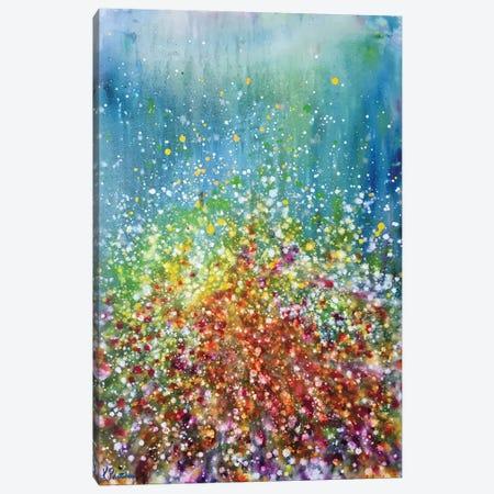 Poppies Outside Emerald City Canvas Print #KRP17} by Kristen Pobatschnig Canvas Artwork
