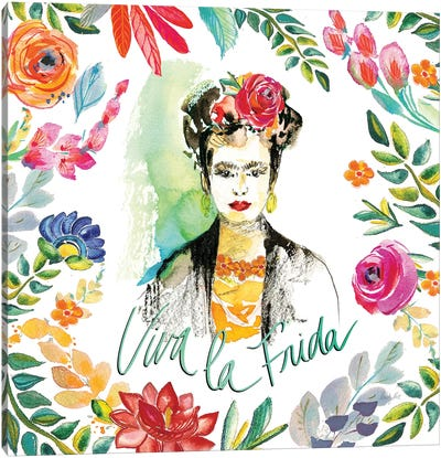 Fridas Flower Fancy I Canvas Art Print
