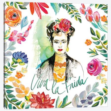 Fridas Flower Fancy I Canvas Print #KRR12} by Kristy Rice Canvas Print