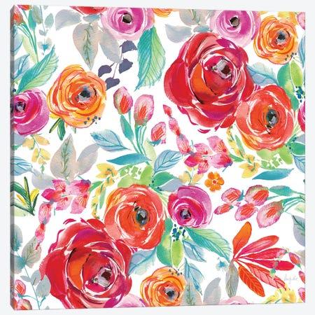 Fridas Flower Fancy Pattern I Canvas Print #KRR15} by Kristy Rice Canvas Art